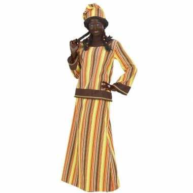 Afrikaanse dame carnavalspak