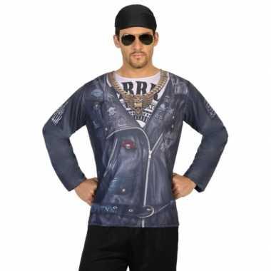 Biker shirt verkleedcarnavalspak