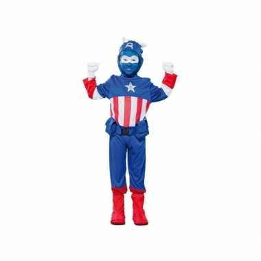 Blauwe superheld carnavalspak jongens