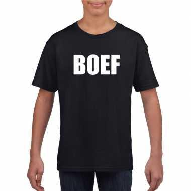 Boef carnaval t shirt zwart jongens meisjes