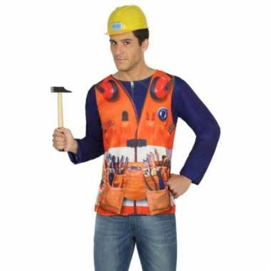 Bouwvakker shirt verkleedcarnavalspak
