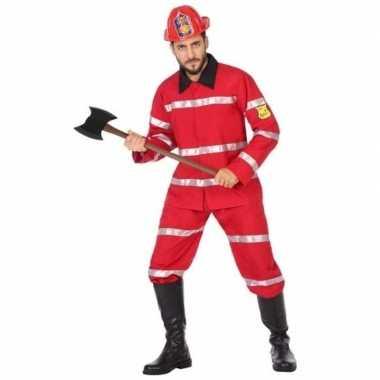 Brandweer uniform carnavalspak heren