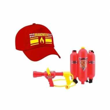 Brandweer vlam carnaval pet waterpistool brandblusser