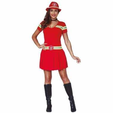 Brandweervrouw carnavalspak/jurkje dames