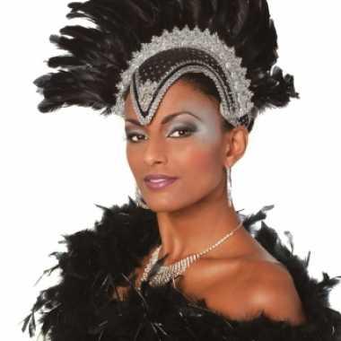 Braziliaanse carnavals hoofdtooi zwart