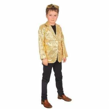 Carnaval colbert jasje goud kinderen