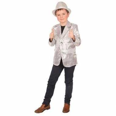 Carnaval colbert jasje zilver kinderen