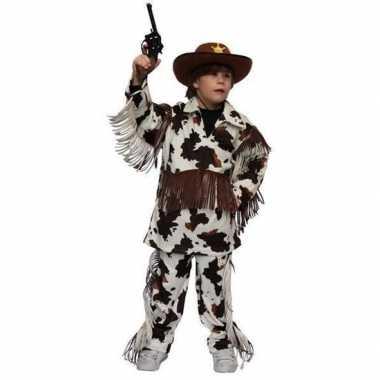 Carnaval cowboy pak koeien kinderen
