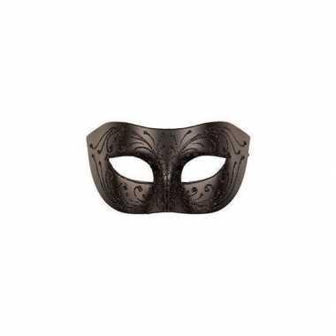 Carnaval oogmasker zwart volwassenen