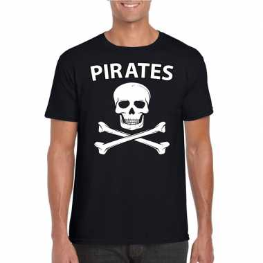 Carnaval piraten t shirt zwart heren