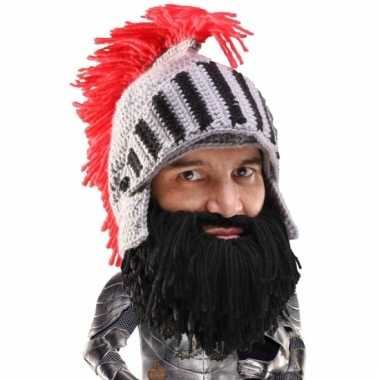Carnaval ridder baardmuts zwarte baard