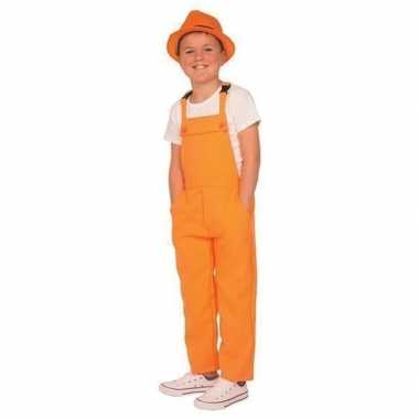 Carnaval tuinbroek oranje kinderen