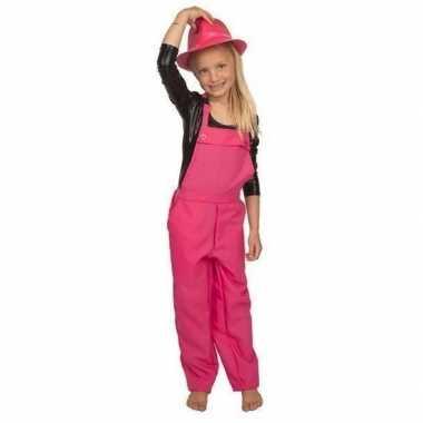 Carnaval tuinbroek roze kinderen