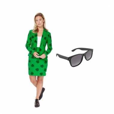 Carnavals pak sint patricks day dames (l) gratis zonnebril