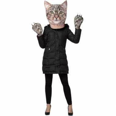 Carnavals verkleed setje kat