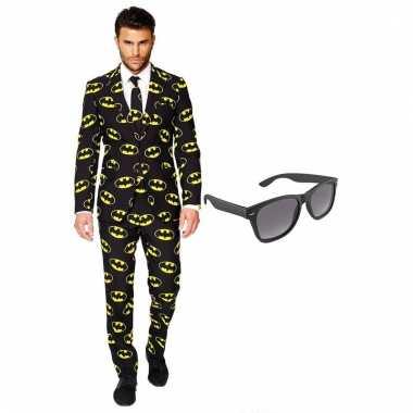 Carnavalspak batman heren pak xxl gratis zonnebril