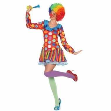 Carnavalspak clown jurkje dames