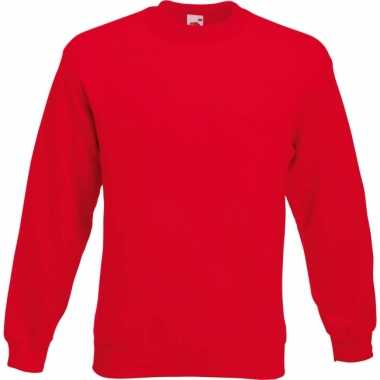 Carnavalspak fruit of the loom sweater rood