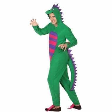 Carnavalspak groene draak volwassenen