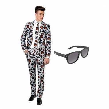 Carnavalspak halloween heren pak (s) gratis zonnebril