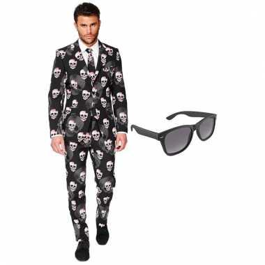 Carnavalspak halloween heren pak (xxxl) gratis zonnebril
