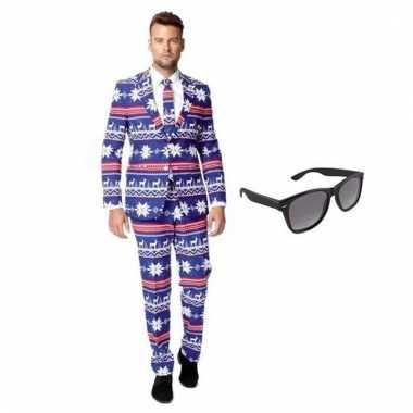 Carnavalspak heren rendier pak (m) gratis zonnebril