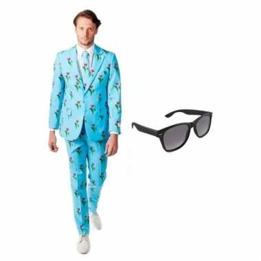 Carnavalspak heren tulpen pak (m) gratis zonnebril