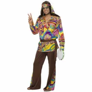 Carnavalspak hippie pak heren
