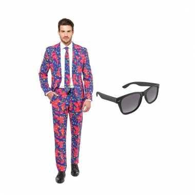 Carnavalspak jaren heren pak (l) gratis zonnebril