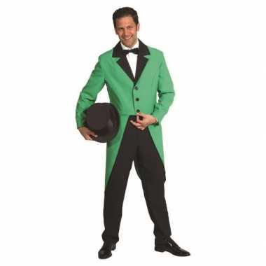 Carnavalspak jas groen