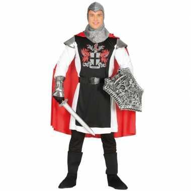 Carnavalspak middeleeuwse ridder cape heren