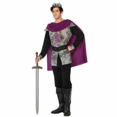 Carnavalspak middeleeuwse ridder/koning heren