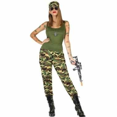 Carnavalspak militair/soldaat dames