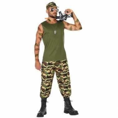 Carnavalspak militair/soldaat heren
