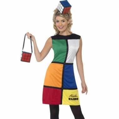 Carnavalspak Rubiks jurkje dames