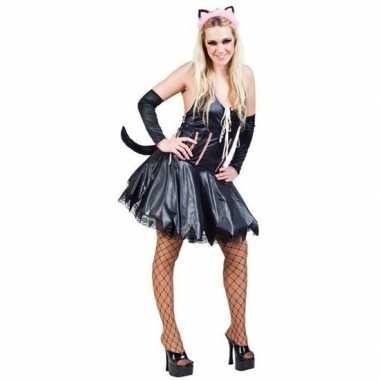 Carnavalspak sexy poes kat zwart