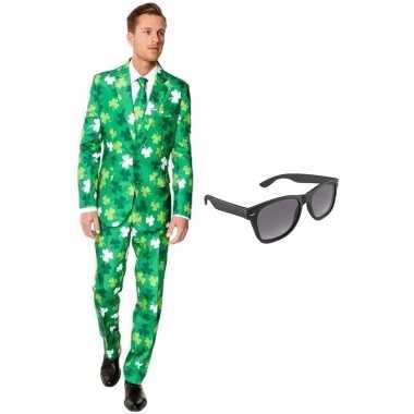 Carnavalspak sint patricks day heren pak (l) gratis zonnebril