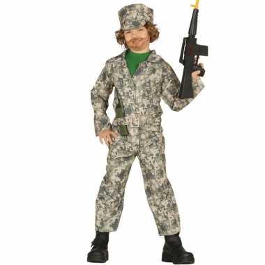 Carnavalspak soldaat verkleed uniform jongens