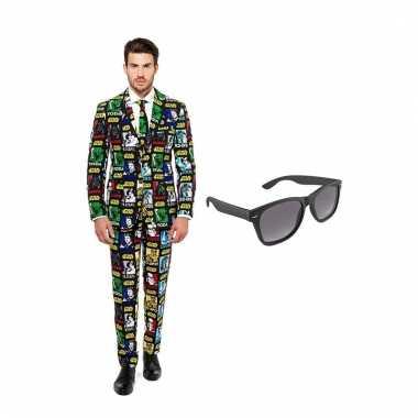 Carnavalspak star wars heren pak (s) gratis zonnebril