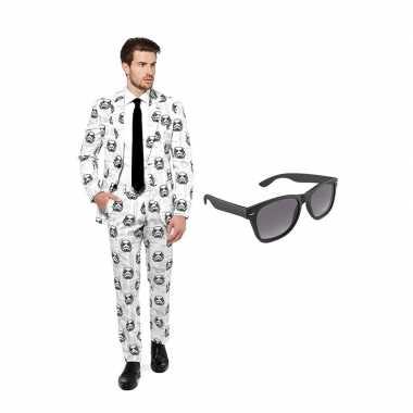 Carnavalspak star wars stormtrooper heren pak (m) gratis zonnebril