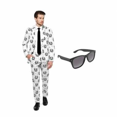 Carnavalspak star wars stormtrooper heren pak (xl) gratis zonnebril