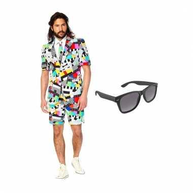 Carnavalspak testbeeld heren pak (l) gratis zonnebril