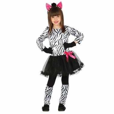 Carnavalspak zebra carnavalspak meisjes