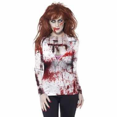 Carnavalspak zombie t shirt dames
