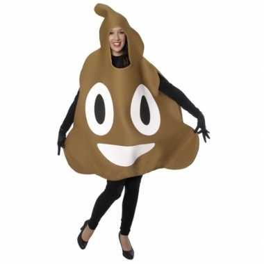 Chocolade ijs emoticon carnavalspak volwassenen