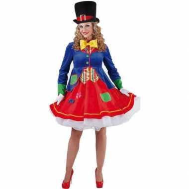 Clown verkleedcarnavalspak dames