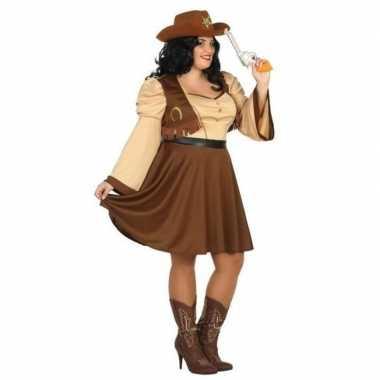 Cowgirl carnavalspak dames plus size
