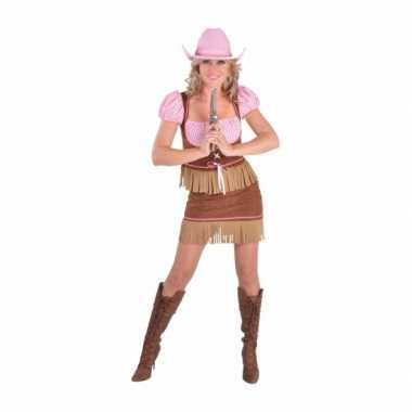 Dames cowgirl carnavalspak