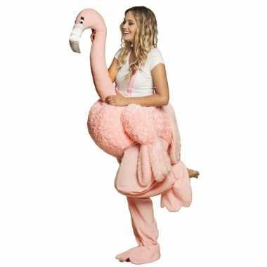 Dieren verkleed carnavalspak flamingo volwassenen