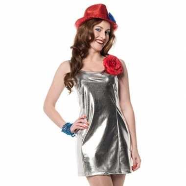Disco carnavalspaks zilver dames